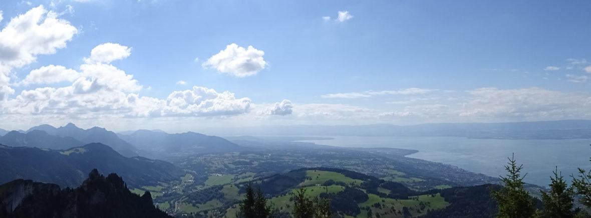 Photo du chablais et du lac Leman